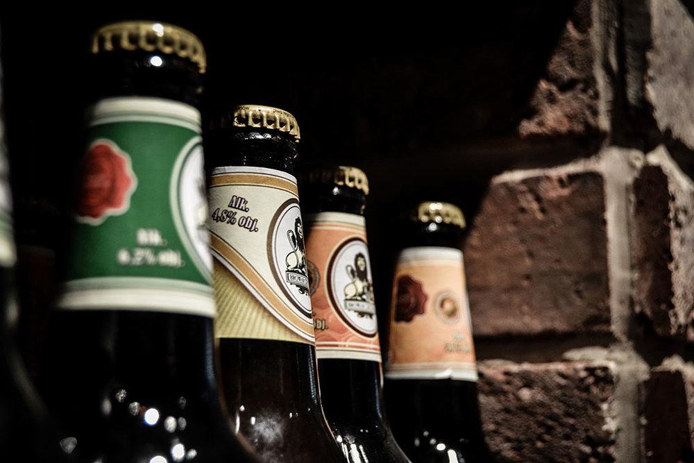 Garrafas de cerveja de coleção
