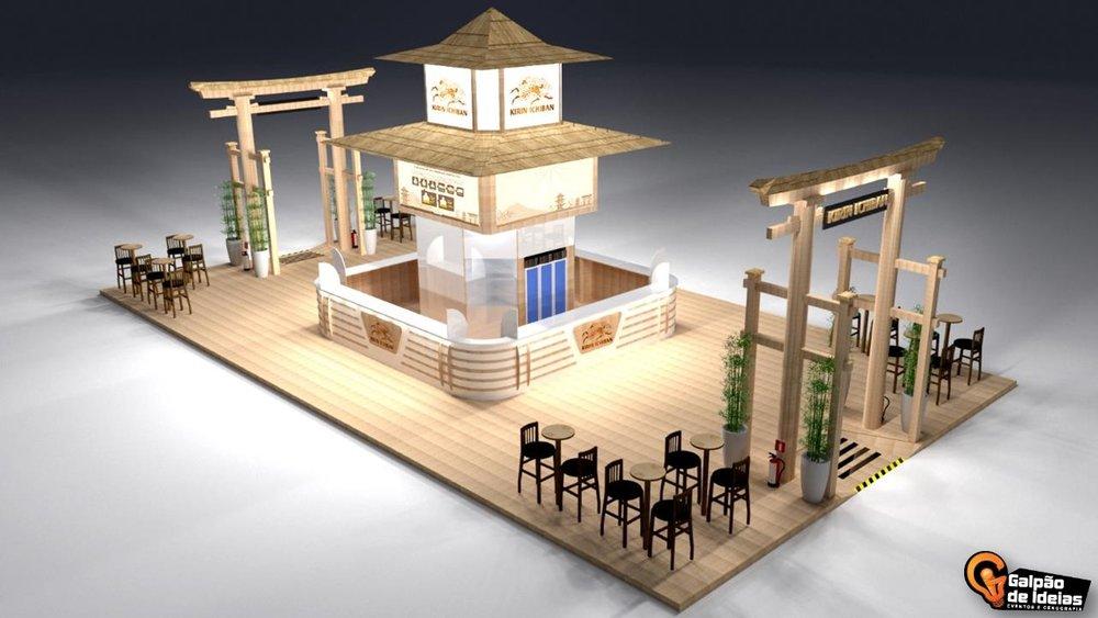 Os estandes da Kirin Ichiban estarão localizados na Avenida Japão (Foto: Divulgação)