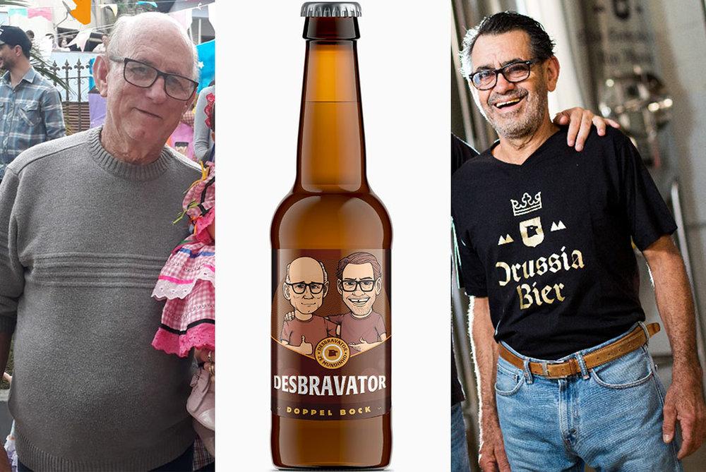 Raimundo e Zezé ganharam uma caricatura no rótulo da Desbravator, a Doopelbock da Prussia Bier (Foto: Divulgação)