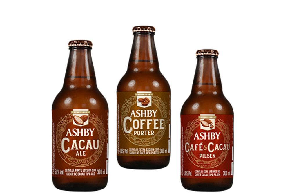 As três opções da linha Sabores Intensos, da cervejaria de Amparo/SP (Foto: Divulgação)