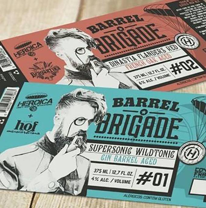 Os dois primeiros lançamentos da série Barrel Brigade (Foto: Divulgação)
