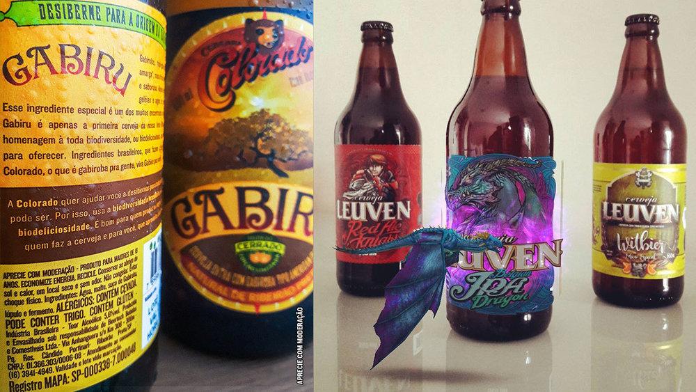 As cervejarias Colorado e Leuven conseguiram chamar a atenção com estratégias inteligentes (Fotos: Divulgação)