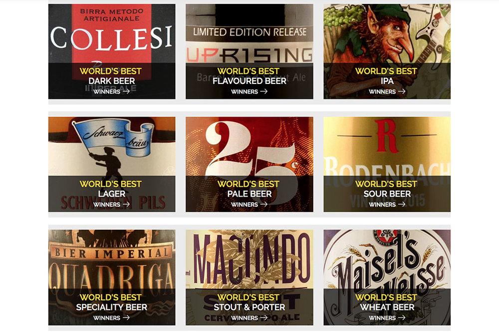 As nove campeãs no geral do World Beer Awards (Foto: Divulgação)