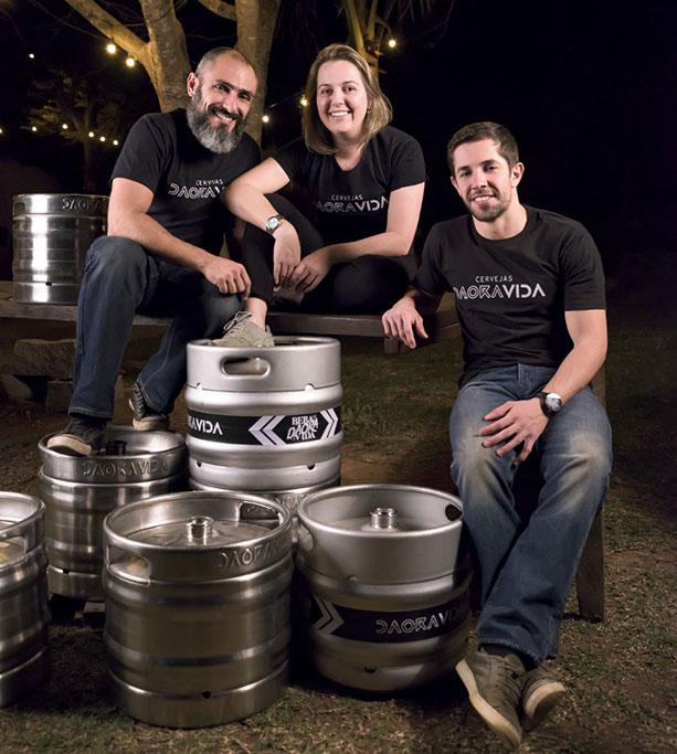 Falci, Michele e Stênico, os sócios da Daoravida (Foto: Divulgação)