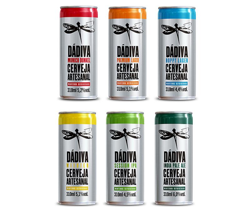 As seis opções, em latas de 310 ml, têm teor alcoólico no máximo de 6% (Foto: Divulgação)