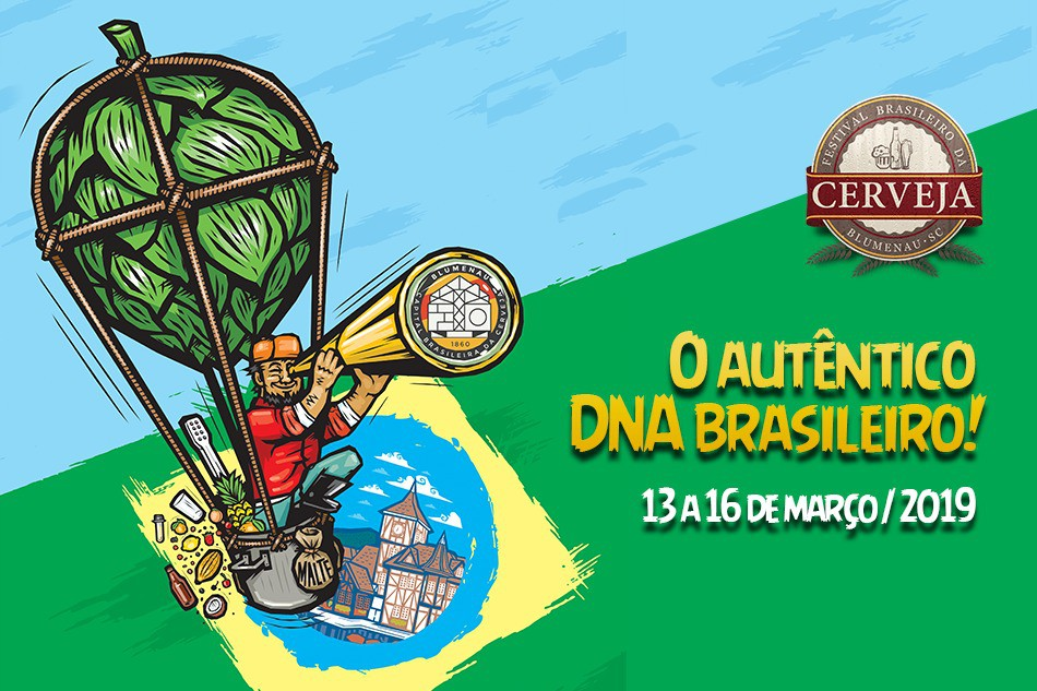 Peça de divulgação do festival em Blumenau, um dos mais importantes do Brasil (Foto: Reprodução)