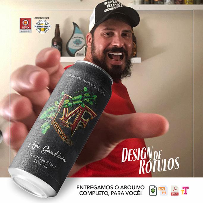 Peça de divulgação da Agência Alvo, de Bento Ferreira, com rótulo desenvolvido para a Taberna MF (Foto: Divulgação)