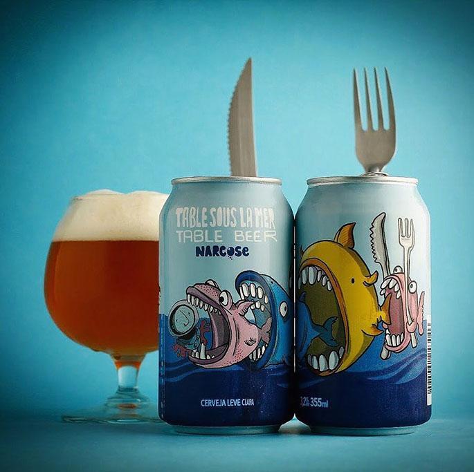 A cerveja Table Sous la Mer reproduz um estilo que tem história no Reino Unido   (Foto: Divulgação)