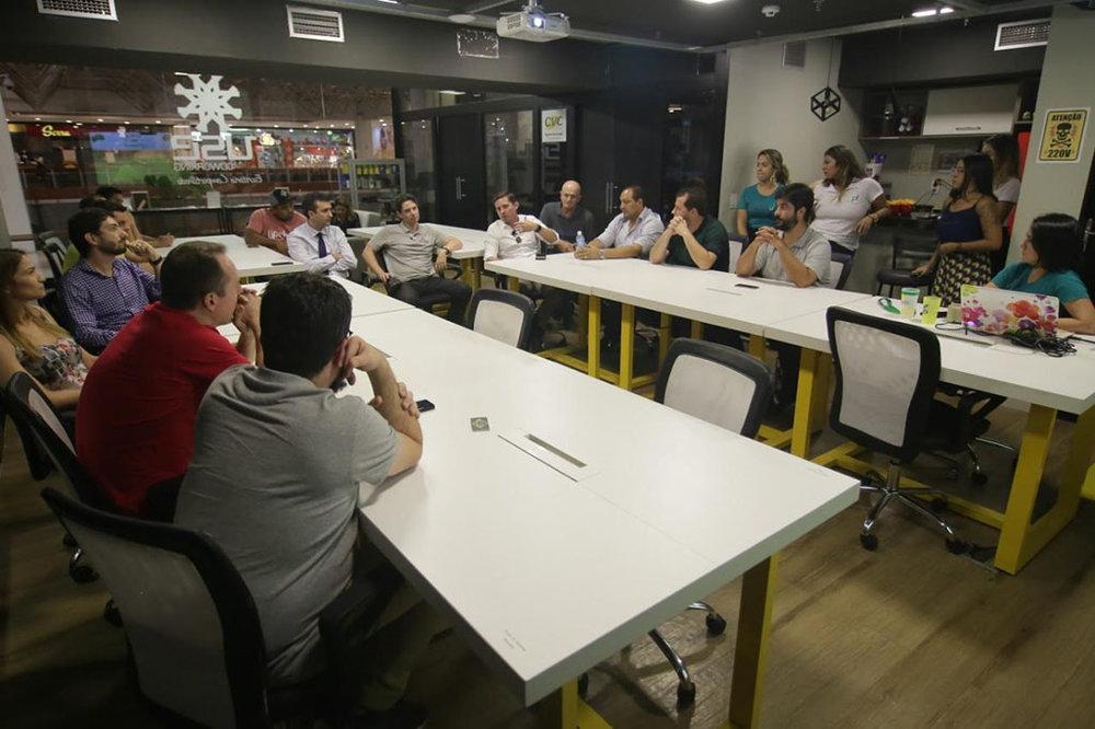Reunião de lançamento do Festival, no dia 19 de fevereiro, com organizadores, representantes do setor, empresários e cervejeiros  (Foto: Divulgação)