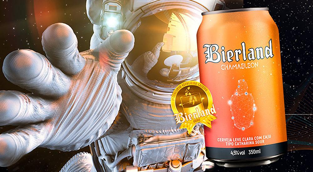 A Bierland Chamaeleon é uma Catharina Sour com caju, elaborada com o cervejeiro Daniel Ferreira de Córdova, de Florianópolis/SC, a partir da receita vencedora do 7° Concurso Cervejeiro Caseiro Bierland (Foto: Divulgação)
