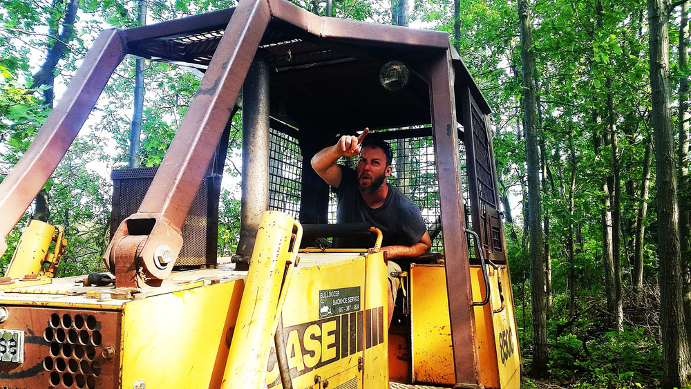 If you leave a bulldozer on my land, I get to play with it. Only seems fair.