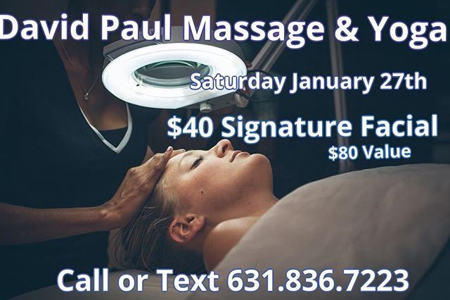 We have a new Esthetician joining the team! Her introduction day will be a special day. The Signature Facial will only be $40.00 on Saturday January 27th. Call or text 631.836.7223 to book your spot! #longislandspa #treatyoself