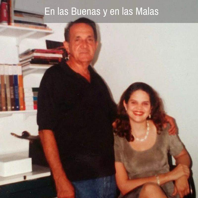Con papi en el 1995