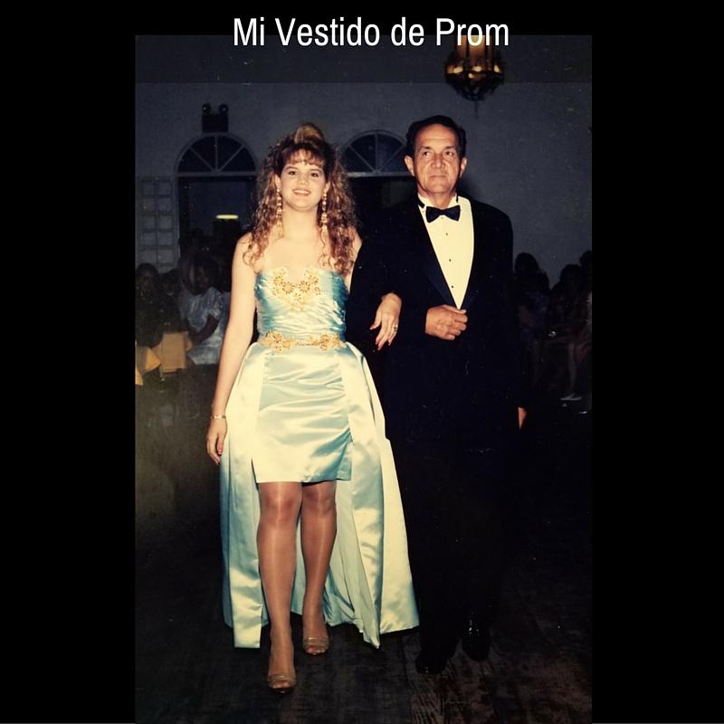 Con Papi en el día de mi prom... Mayo de 1992