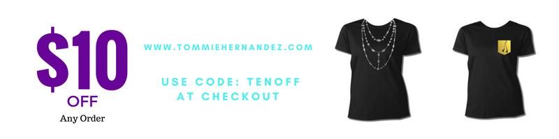tommie hernandez sale metallic  t-shirts