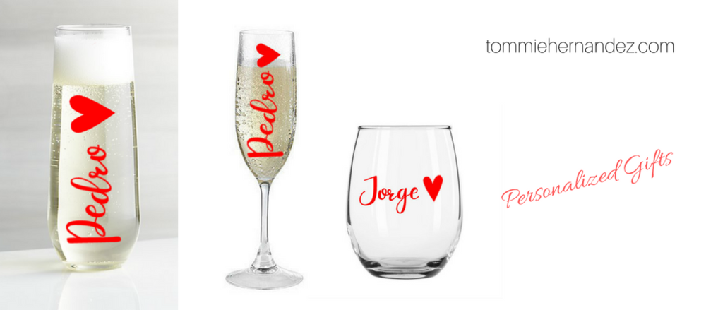 personalized wine stemless bridesmaid gift wedding