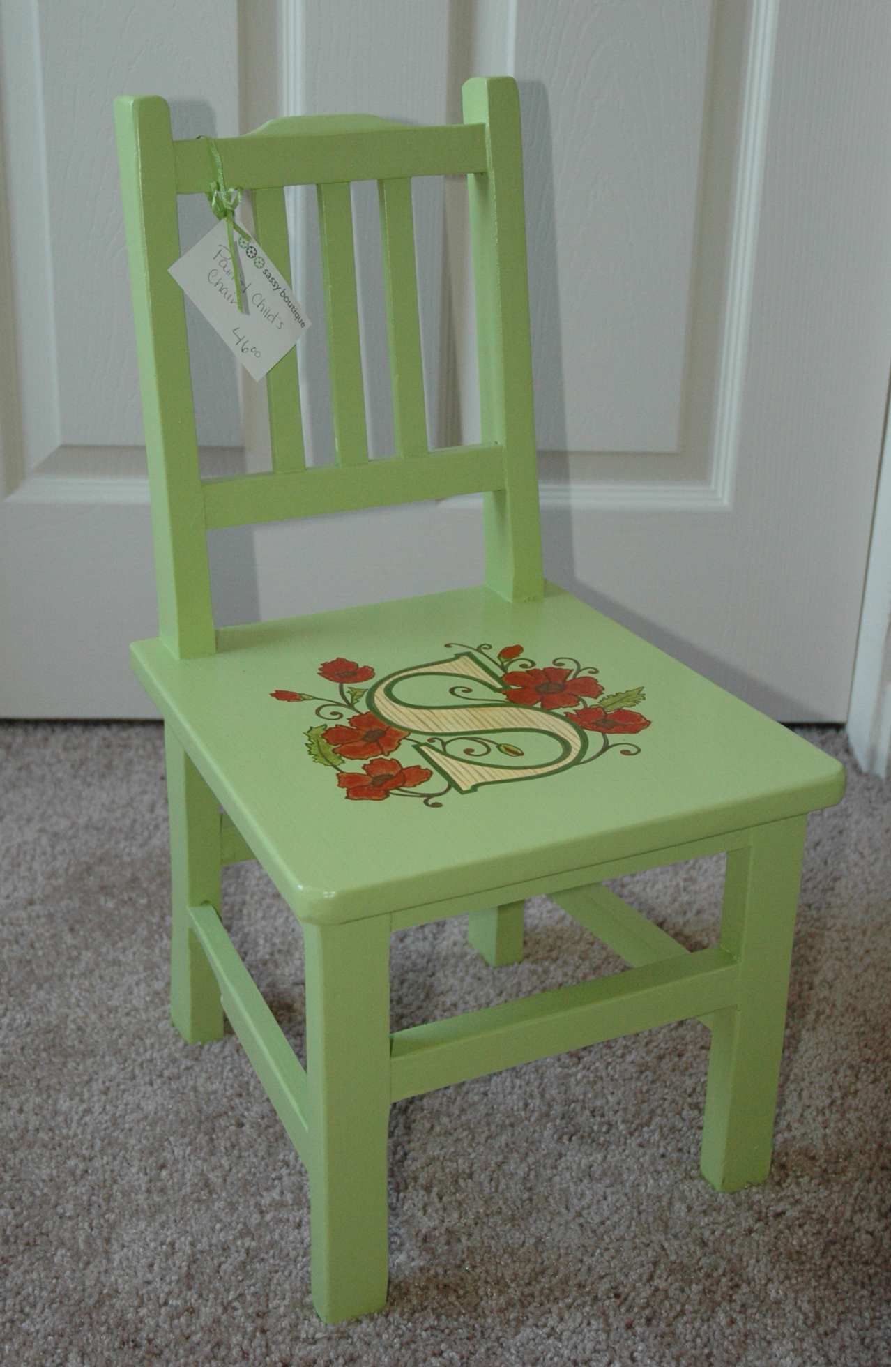 monogram chair