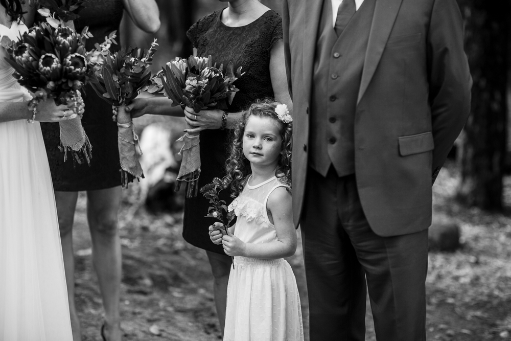 flowergirl at ceremony