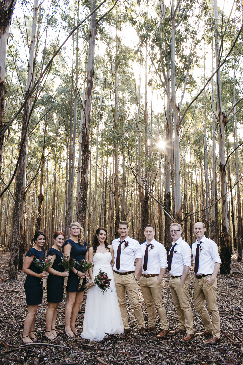 bridal party in forest margaret river