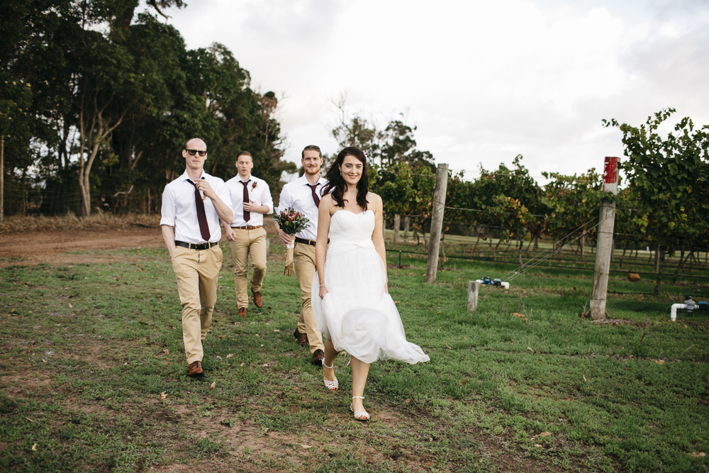 bridal party at wills domain
