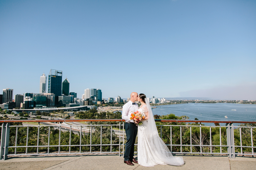kings park wedding photography lookout city skyline