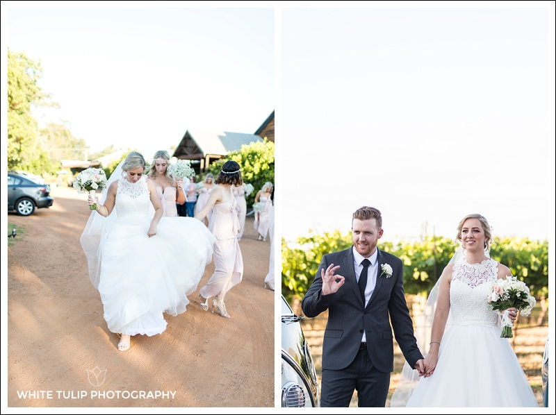 bride and groom at riverbank estate swan valley wedding