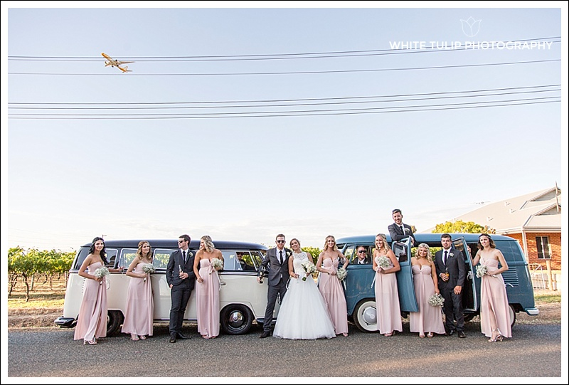 swan valley wedding with kombi vans