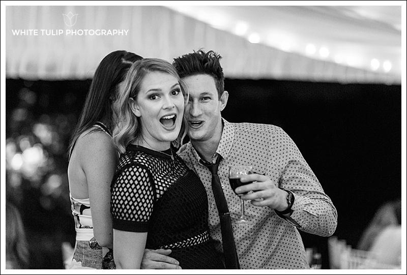 reception at riverbank estate wedding
