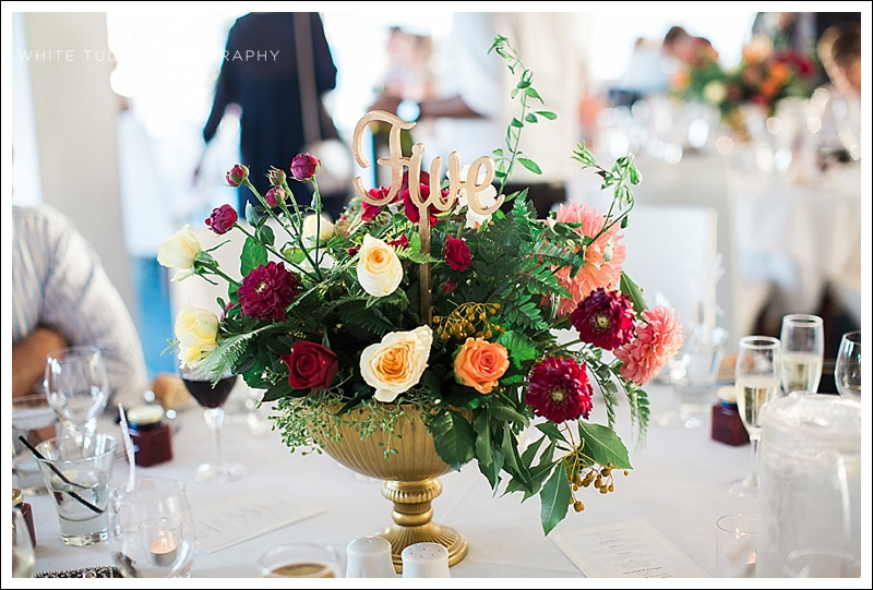 katie cooper floral design centrepiece reception wedding