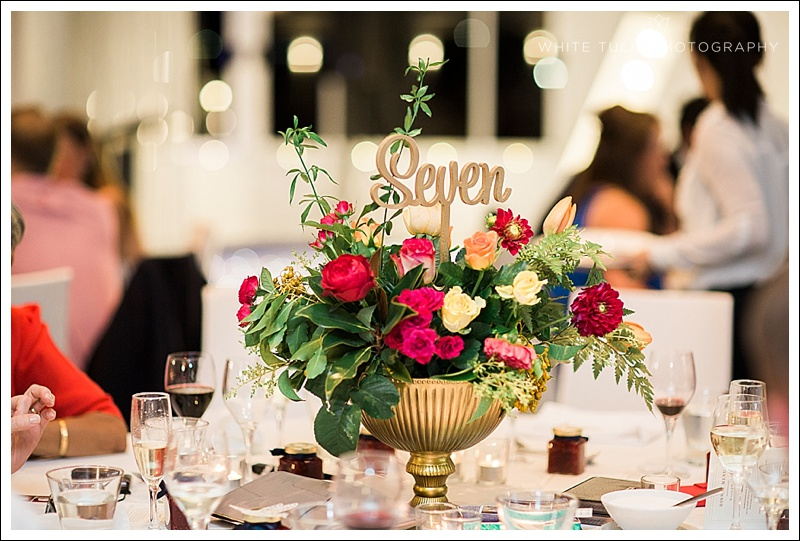 katie cooper floral design centrepiece acqua viva wedding reception