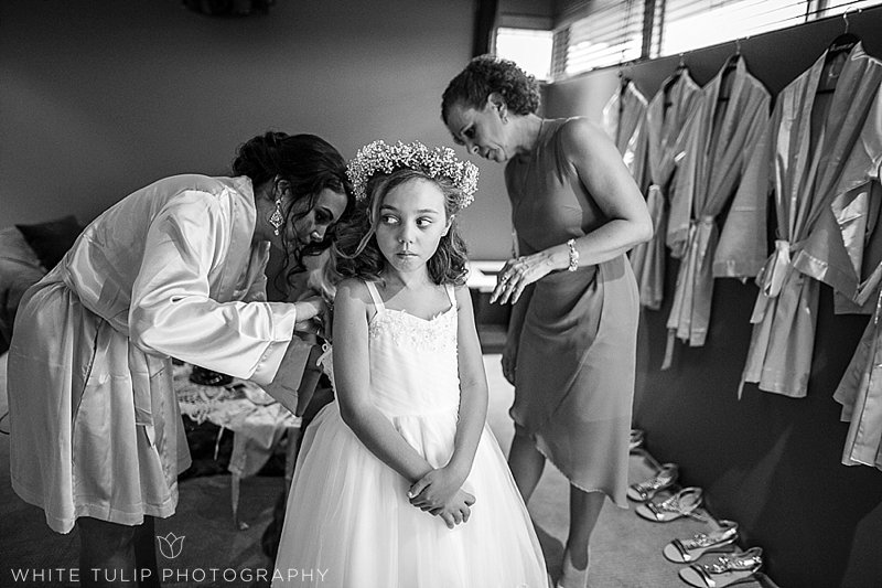 kids at bridal prep