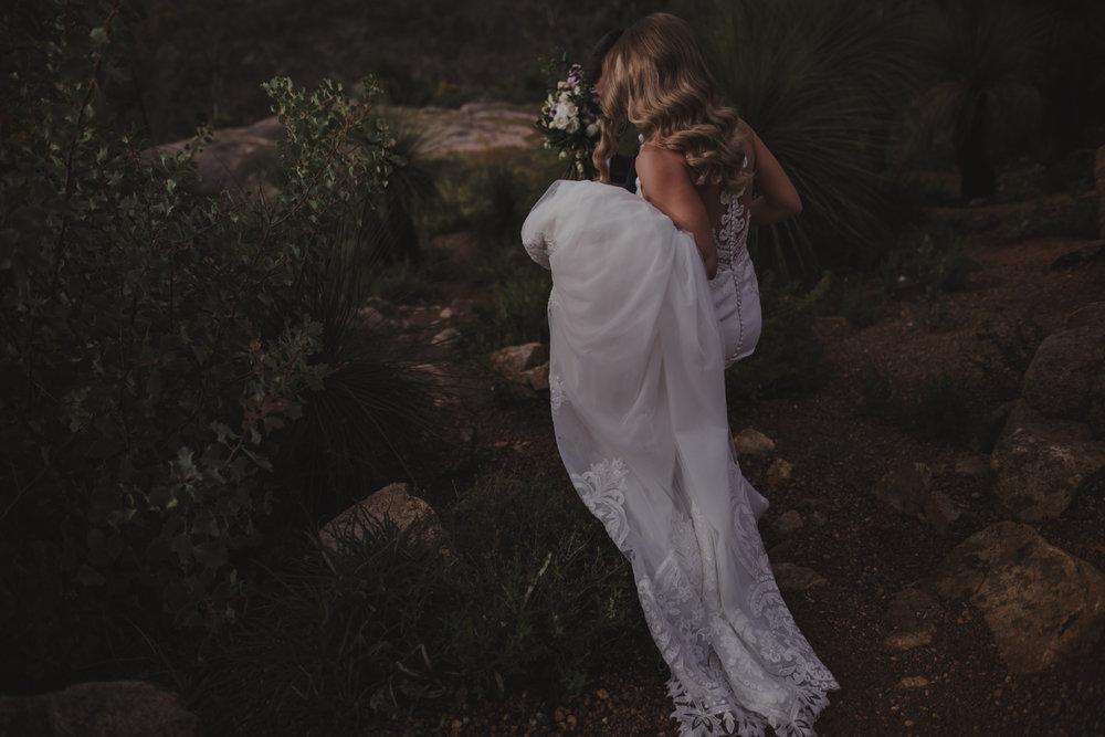bride john forrest national park wedding
