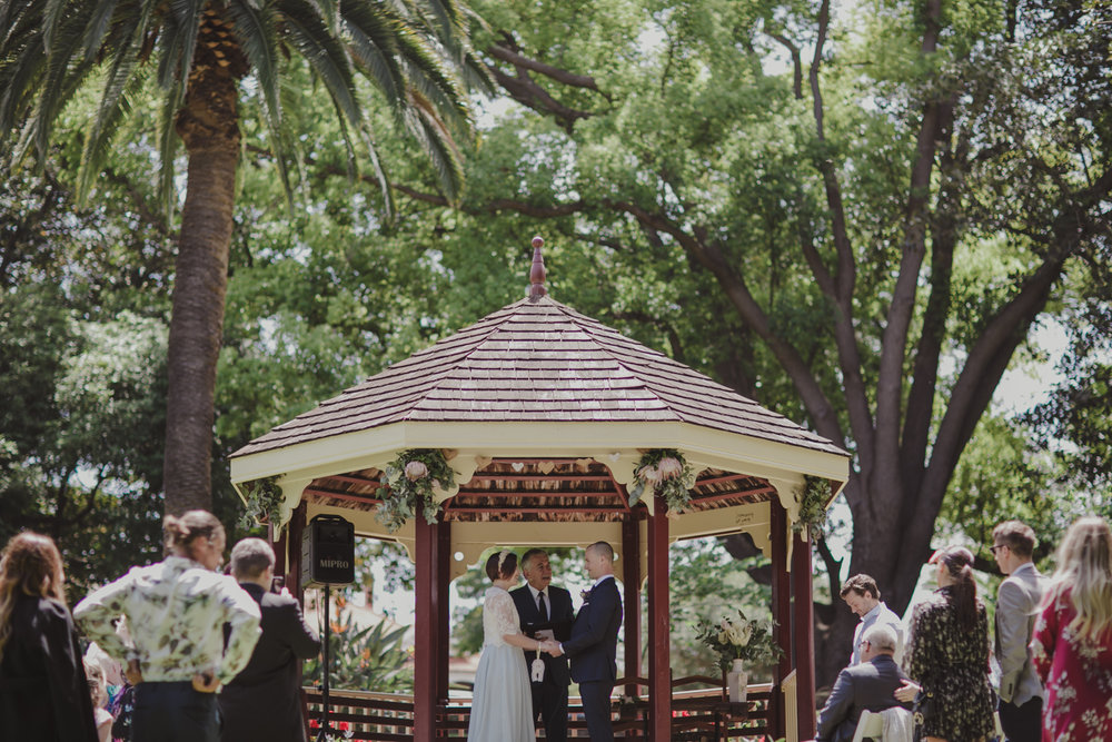 hyde park wedding perth
