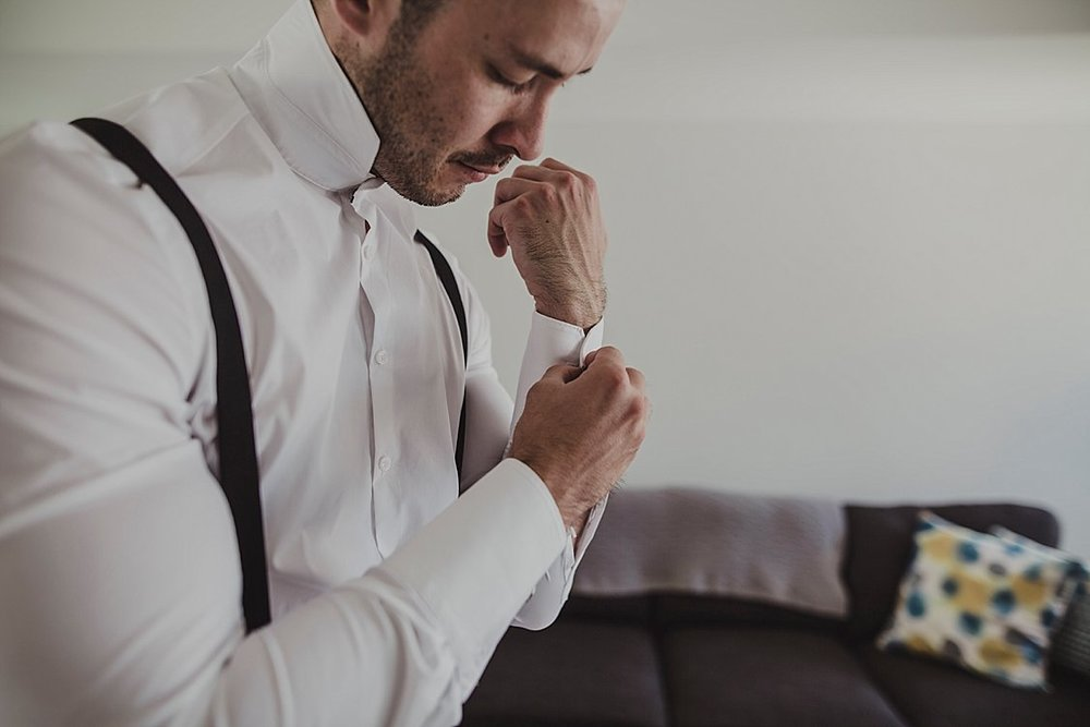groom gets ready