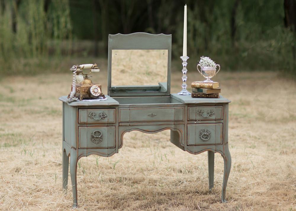 Genevieve Mint Vintage Vanity