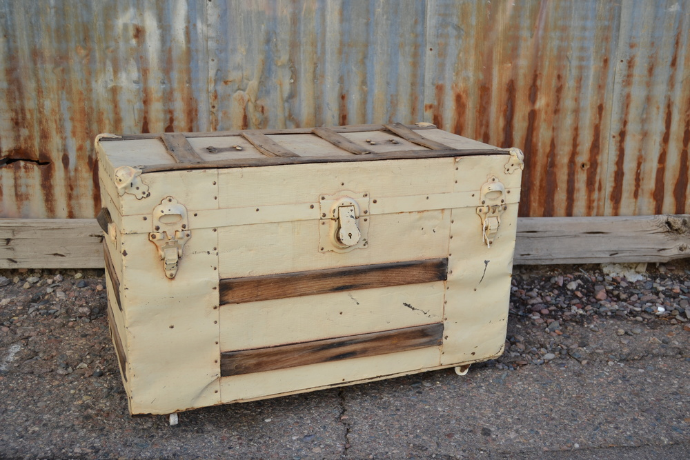 Antique white trunk