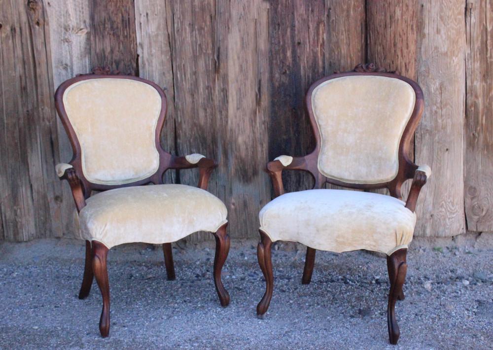 Priscilla & Elvis Victorian Chairs