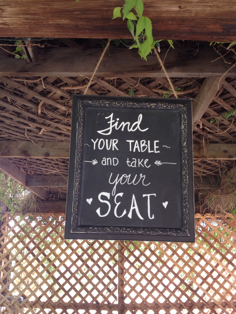 Prim chalkboard and custom writing