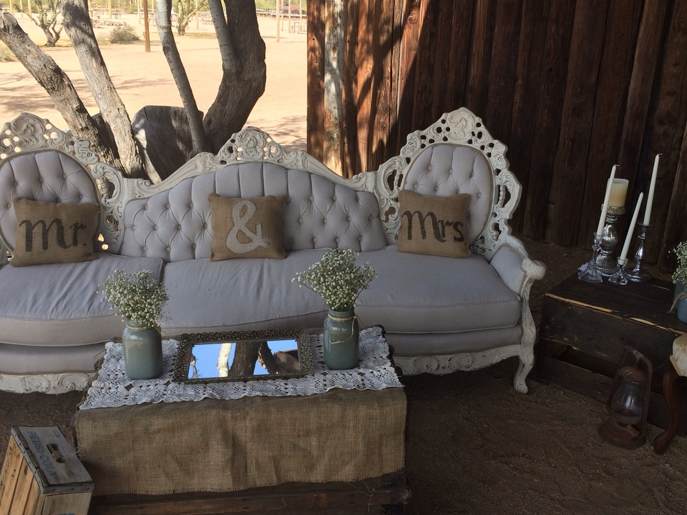 Elizabeth lounge setting at Desert Foothills