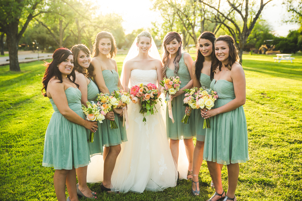 We love the bridesmaid dress color!