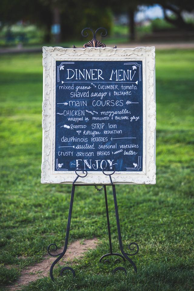 Prim custom chalkboard menu