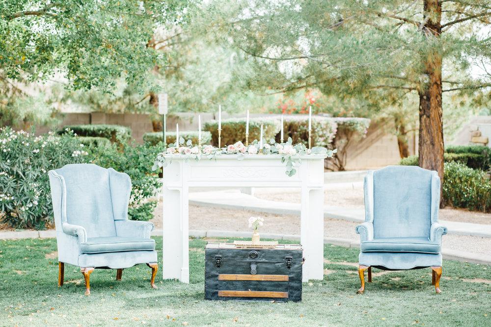 Venue: Shenandoah Mill / Photographer: Lux Wedding Studio/ Furniture: Prim Rentals