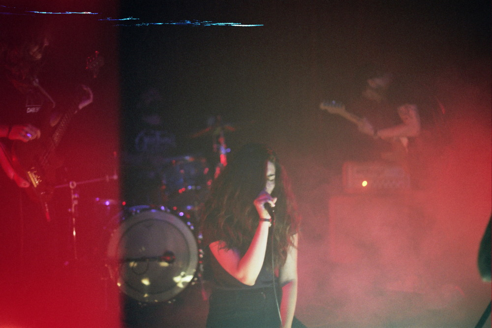 King Woman performing live at the Witch Room in Sacramento, CA June 2014.