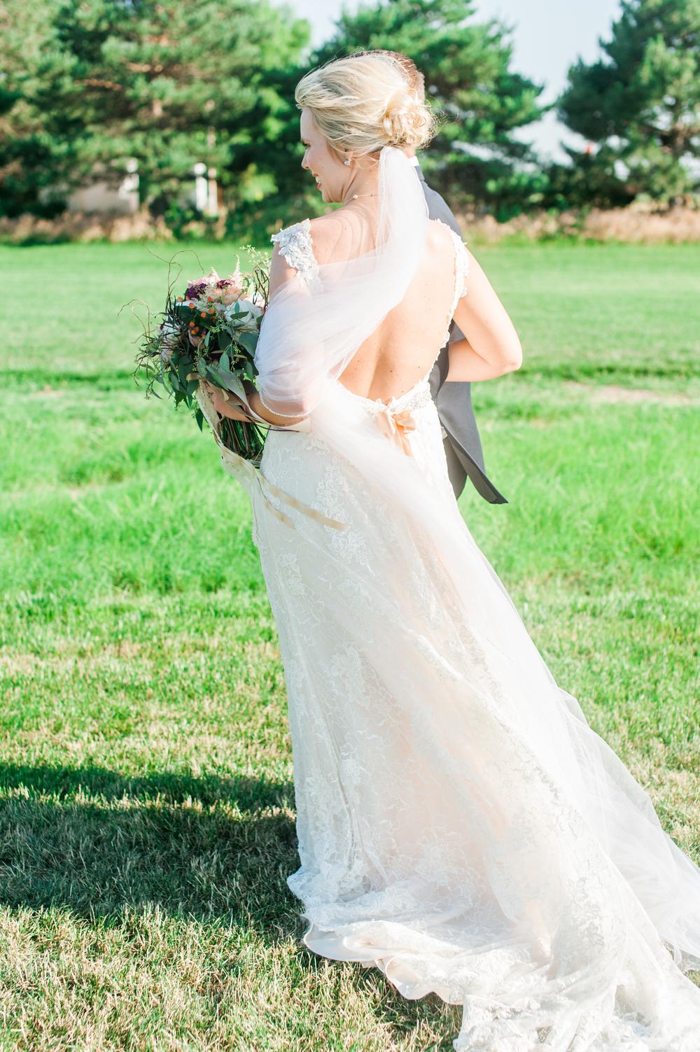 Omaha bride at outdoor wedding