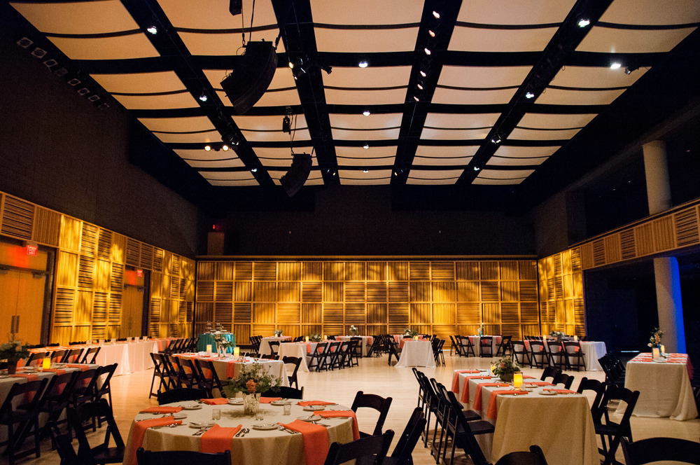 wedding reception at the holland performing arts center