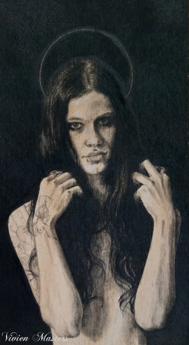 "Corey, Pencil on wood, 9x5"", 2013"