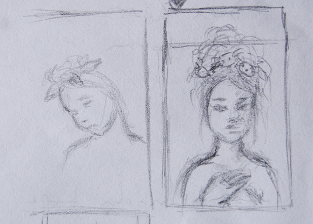Rough thumbnail concept sketches