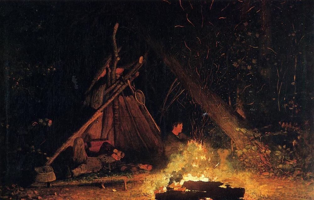 The Campfire by Winslow Homer