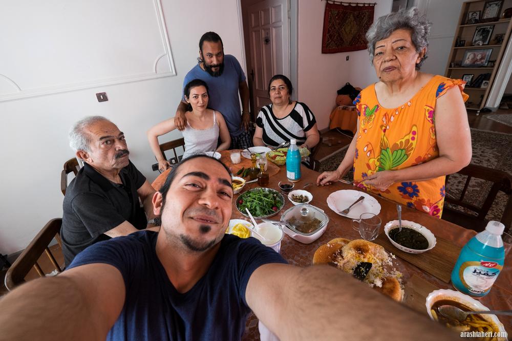 Reunion med tante, kusiner og fetter