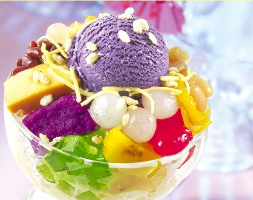 A dish like the Philippines. That is Halo Halo.